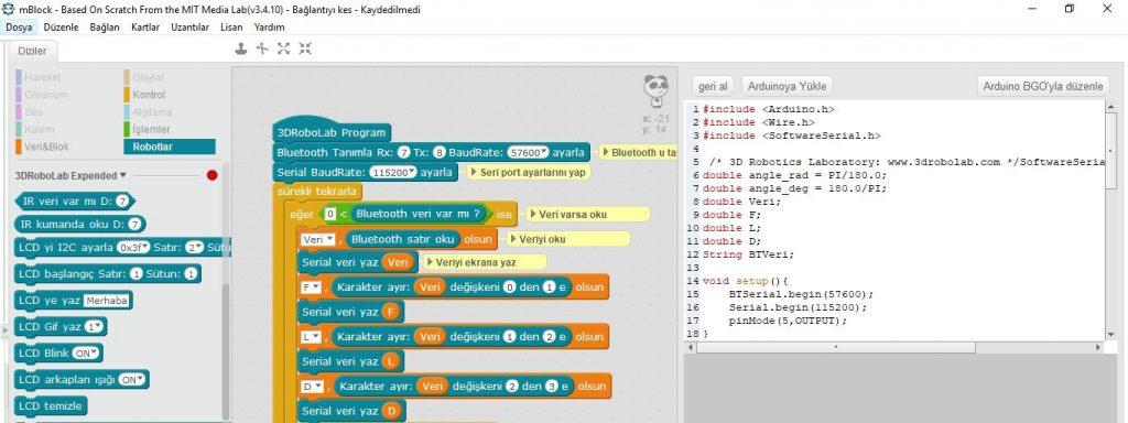 Blok Tabanlı Arduino Programlama ve Fazlası – 3D Robotik Laboratuvarı
