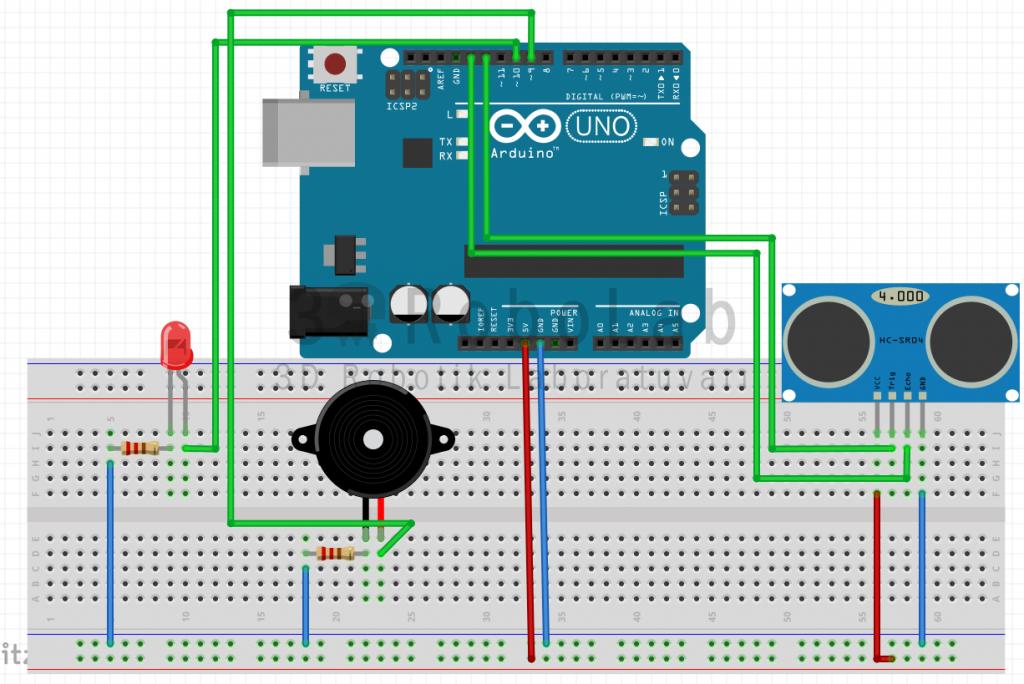 Ultrasonic Sensör ile Araç Park Uygulaması