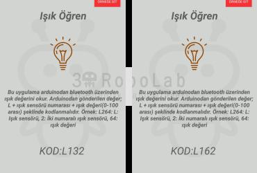 Mblock ve 3DRobolab Mobil Uygulaması İle Işık Sensörü Kullanımı