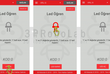 Mblock ve 3DRobolab Mobil Uygulama İle Led Kullanımı