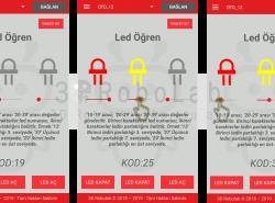 Mblock ve 3DRobolab Mobil Uygulaması İle Led Parlaklık Ayarı