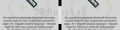 Mblock ve 3DRobolab Mobil Uygulaması İle Ultrasonik Sensör Kullanımı