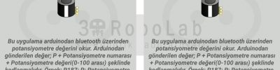 Mblock ve 3DRobolab Mobil Uygulaması İle Potansiyometre Kullanımı
