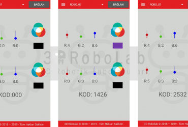 Mblock ve 3DRobolab Mobil Uygulaması İle RGB Led Kullanımı
